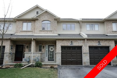 Stoney Creek Freehold Townhome for sale:  3 bedroom  (Listed 2017-01-12)